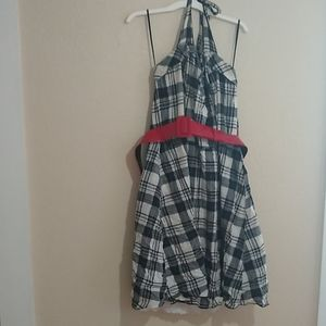 Torrid gingham halter dress with belt